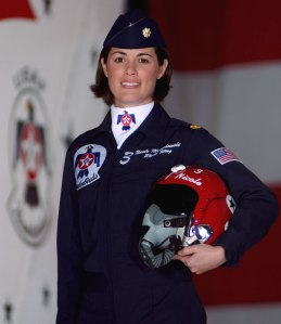 Lieutenant Colonel Nicole M. E. Malachowski, USAF, is the first female Thunderbird pilot in the Air Forces elite flying team.