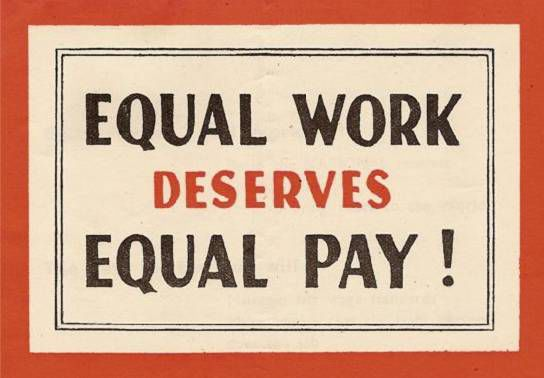 Is there any woman who thinks that she doesn t deserve equal pay for equal work