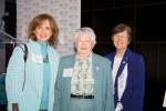 BPW/MD member Susan Horst, Brigadier General Wilma L. Vaught (ret), President, Women in Military Service for America Memorial and BPW Foundation Chair Barbara Henton