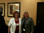 Panel member and BPW/CA member Jeanne Simmons-McNeil with BPW Foundation CEO Deborah Frett