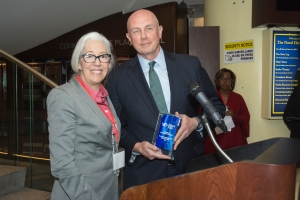 BPW Trustee Leslie Wilkins and Dave Mooney President and CEO of Alliant Credit Union