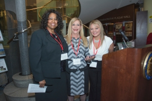 Rosalyn Ridgeway BPW Chair, Mimi Zelman BPW NC President, Crystal Williams BPW NC Women Joining Forces Chair
